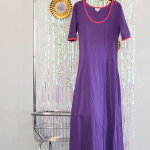Lularoe Ana Maxi Dress, Purple with pink L